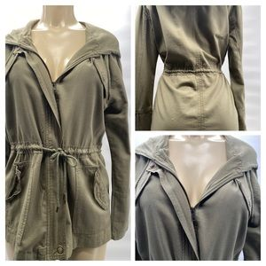 Ashley by 26 Intl  SZ M Hooded Army Style Jacket